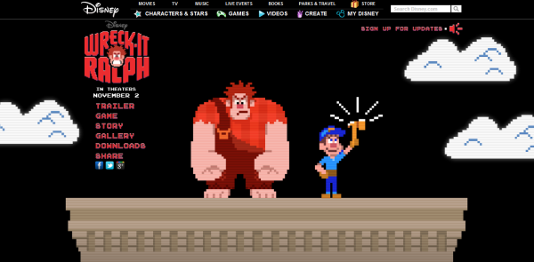 Wreck-It Ralph Website